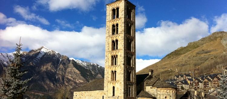 Conjunto románico del valle de Boí declarado patrimonio de la humanidad por la UNESCO.