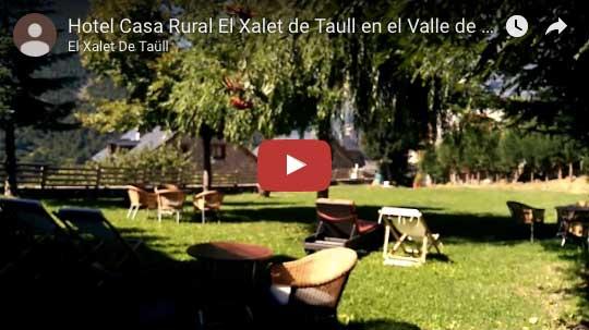 jardín hotel casa rural el xalet de taüll en el valle de boí